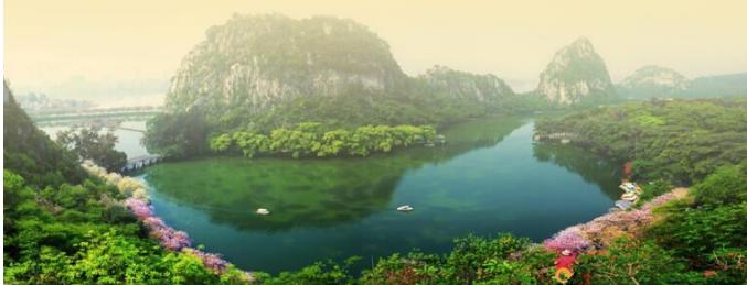 肇庆七星岩风景区,鼎湖山, 白沙龙母庙,水舞灯光秀2天