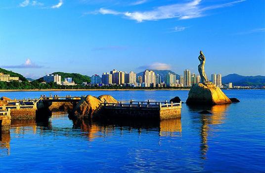 珠澳海湾观光游、圆明新园、海滨泳场、 浪漫石景山、野狸岛、渔女像休闲城市观光