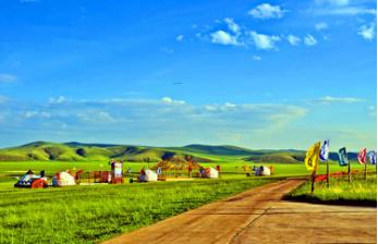 呼伦贝尔大草原、莫日格勒河、额尔古纳湿地、217房车露营基地蒙古人游牧部落双飞六日游