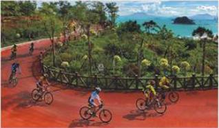 碧海湾漂流、环海绿道单车、水上乐园、《美人鱼2》拍摄地、双月湾观景台、海龟基地、食《海味霸王鸭》2天